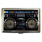 Boombox High Quality Silver Chrome Cigarette Money/ Credit Card Case