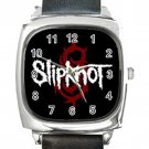 Slipknot Logo Square Metal Watch With Leather Band