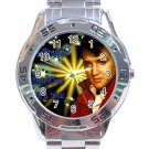 Elvis Presley The King Of Rock & Roll Stainless Steel Analogue Watch