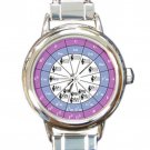 Circle of Fifths Musician Chromatic Ladies Round Italian Charm Watch