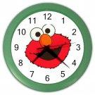 "Elmo Sesame Street Green Plastic Frame 10"" Wall Clock"