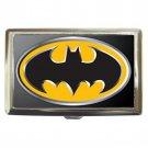 Batman Logo High Quality Silver Chrome Cigarette Money/ Credit Card Case