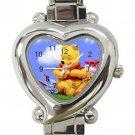 Winnie The Pooh Ladies Heart Italian Charm Watch