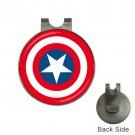 Captain America High Quality Metal Chrome Golf Ball Hat Clip