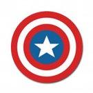Captain America High Quality Metal Chrome 4 Golf Ball Marker