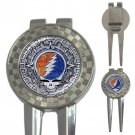 Grateful Dead Aztec High Quality Metal Chrome 3-in-1 Golf Divot