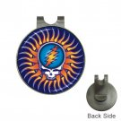 Grateful Dead Sunshine Steal Your Face High Quality Metal Chrome Golf Ball Hat Clip