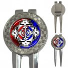 Grateful Dead Refelctions High Quality Metal Chrome 3-in-1 Golf Divot