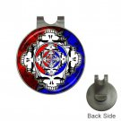 Grateful Dead Reflections High Quality Metal Chrome Golf Ball Hat Clip