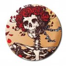 Grateful Dead Skeleton With Roses High Quality Metal Chrome 4 Golf Ball Marker