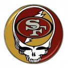 Grateful Dead San Francisco 49ers High Quality Metal Chrome Hat Clip Ball Marker (4 pack)