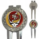 Grateful Dead San Francisco 49ers High Quality Metal Chrome 3-in-1 Golf Divot