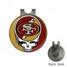 Grateful Dead San Francisco 49ers High Quality Metal Chrome Golf Ball Hat Clip