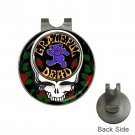 Grateful Dead Heavy Metal Bear High Quality Metal Chrome Golf Ball Hat Clip