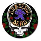 Grateful Dead Heavy Metal Bear High Quality Metal Chrome 4 Golf Ball Marker