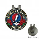 Grateful Dead Roses High Quality Metal Chrome Golf Ball Hat Clip