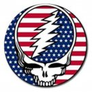 Grateful Dead Skull American Flag High Quality Metal Chrome 4 Golf Ball Marker