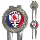 Grateful Dead Boston Red Sox High Quality Metal Chrome 3-in-1 Golf Divot