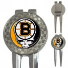 Grateful Dead Boston Bruins High Quality Metal Chrome 3-in-1 Golf Divot