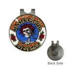 Grateful Dead Skull With Roses High Quality Metal Chrome Golf Ball Hat Clip