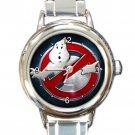 Ghostbusters Movie Logo Ladies Round Italian Charm Watch