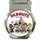 Peanuts & Friends Money Clip Watch