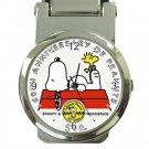Peanuts Snoopy & Woodstock 60th Anniversary Stainless Steel Money Clip Watch