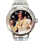 Elvis In Hawaii Ladies Round Italian Charm Watch