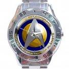 Star Trek Starfleet Command Stainless Steel Analogue Watch