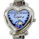 Crazy About Eeyore Ladies Heart Italian Charm Watch