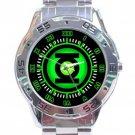 Green Lantern Corps Power Ring Logo Stainless Steel Analogue Watch