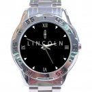 Lincoln Car Logo Stainless Steel Analogue Watch