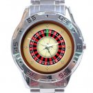 European Roulette Casino Stainless Steel Analogue Watch