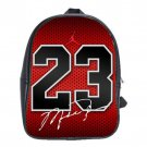 Michael Jordan 23 Bulls Leather School Backpacks Laptop Book Bags Men Women
