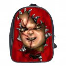 Chucky Child's Play Movies School Leather Backpacks Notebook Bags