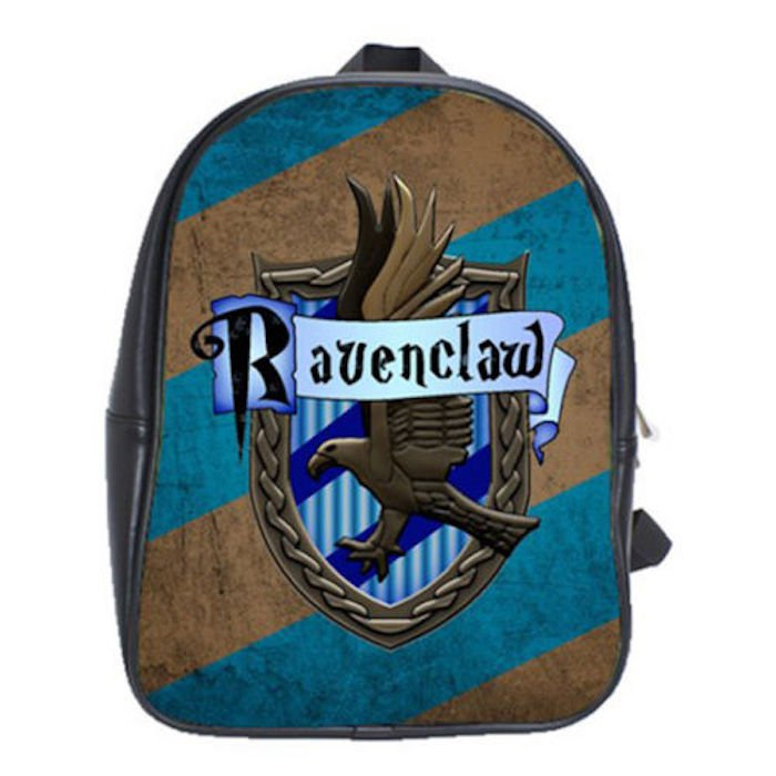 Ravenclaw Crest Harry Potter School Leather Backpacks Notebook Bags