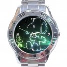 Laser Design Snoopy & Woodstock Stainless Steel Analogue Watch