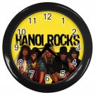 "Hanoi Rock Black Plastic Frame 10"" Wall Clock"