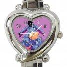 Eeyore Ladies Heart Italian Charm Watch