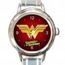 Wonder WomanLogo Round Italian Charm Watch