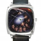 Star Trek Characters Square Metal Watch With Leather Band