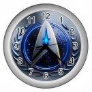 "Star Trek Logo Silver Plastic Frame 10"" Wall Clock"