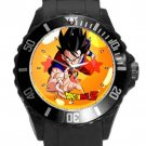 Dragonball Z Son Goku Black Round Plastic Sport Watch
