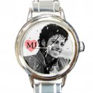 Michael Jackson Smile Round Italian Charm Watch