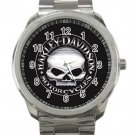 HD Harley Davidson Skull Unisex Stainless Steel Sport Metal Watch