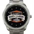 HD Harley Davidson Logo Unisex Stainless Steel Sport Metal Watch