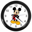 "Mickey Mouse Black Plastic Frame 10"" Wall Clock"