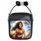 Wonder Woman Cartoon Unisex Genuine Leather Sling Bag