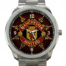 Manchester United Football Unisex Stainless Steel Sport Metal Watch
