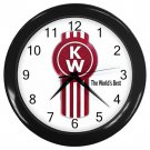 "Kenworth Trucks Black Plastic Frame 10"" Wall Clock"